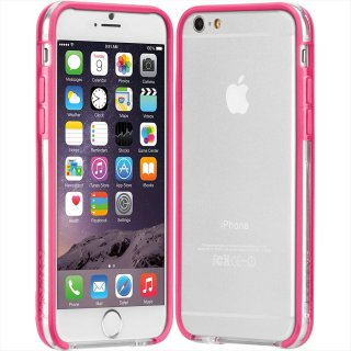 【iPhone6s/6 ケース PC+TPU 一体成形 ユニボディ】 iPhone6s/6 Tough Frame Case Clear / Pink