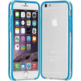 【iPhone6s/6 ケース PC+TPU 一体成形 ユニボディ】 iPhon6s/6 Tough Frame Case Clear / Olympian Blue