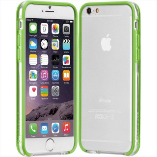 【iPhone6s/6 ケース PC+TPU 一体成形 ユニボディ】 iPhone6s/6 Tough Frame Case Clear / Lime