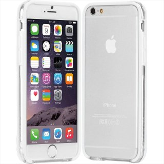 【iPhone6s/6 ケース PC+TPU 一体成形 ユニボディ】 iPhone6s/6 Tough Frame Case Clear / White