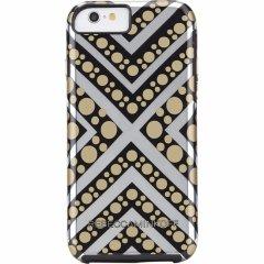 【iPhone6s/6 ケース レベッカ・ミンコフ】 iPhone6s/6 Hybrid Tough Metallic Prints REBECCA MINKOFF Chevron Dot
