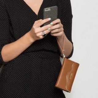 【iPhone6s/6 ケース バッテリー付属レベッカ・ミンコフ】 iPhone6s/6 REBECCA MINKOFF Charging Folio Wristlet Almond