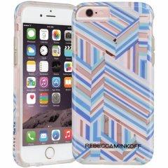 【iPhone6s/6 ケース レベッカ・ミンコフ】 iPhone6s/6 Hybrid Naked Tough Prints REBECCA MINKOFF Pastel Geo Stripe