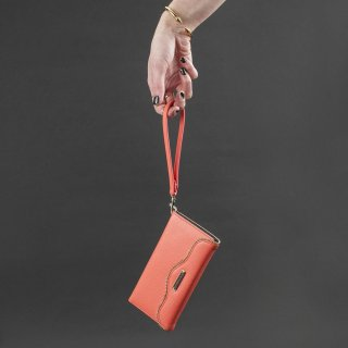 【iPhone6s/6 ケース レベッカ・ミンコフ】 iPhone6s/6 REBECCA MINKOFF Leather Folio Wristlet  Coral