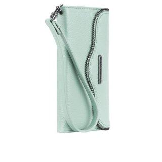 【iPhone6s/6 ケース レベッカ・ミンコフ】 iPhone6s/6 REBECCA MINKOFF Leather Folio Wristlet  Wintermint