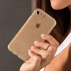 【洗練された透き通るきらめき】 iPhone SE(第2世代/2020年発売) / 8/7/6s/6/7/6s/6 Sheer Glam - Champagne