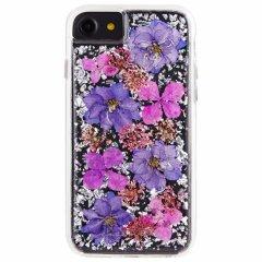 【ドライフラワーを使用!ハッピーでかわいいケース】 iPhone SE(第2世代/2020年発売) / 8/7/6s/6 Karat Petals - Purple
