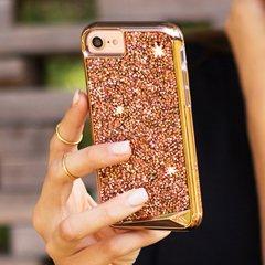【水晶を使用した高級感あふれるプレミアムなケース】 iPhone SE(第2世代/2020年発売) / 8/7/6s/6 Brilliance - Rose Gold