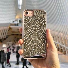 【水晶を使用した高級感あふれるプレミアムなケース】 iPhone SE(第2世代/2020年発売) / 8/7/6s/6 Brilliance - Lace
