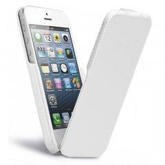 【本革使用の縦開きスタイルケース】 iPhone SE/5s/5 Signature Flip Case White