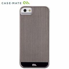 【金属調の高級感溢れるケース】 Case-Mate iPhone SE/5s/5 Crafted Case Brushed Alminum Gunmetal / Black