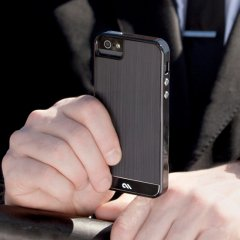 【金属調の高級感溢れるケース】 Case-Mate iPhone SE / 5s / 5 Crafted Case Brushed Alminum Black / Black
