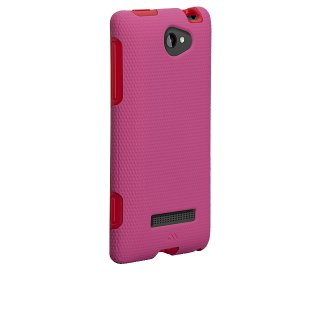 【衝撃に強いケース】 HTC 8S Hybrid Tough Case Lipstickpink / Red