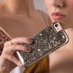 【 水晶を使用】  iPhone SE(第2世代/2020年発売) / 8/7/6s/6 Brilliance Case Champagne ブリリアンス ケース シャンパン