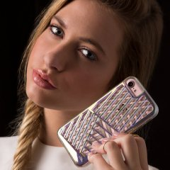 【 3Dデザイン】  iPhone SE(第2世代/2020年発売) / 8/7/6s/6 Tough Layers Case Cage Iridescent/Sheer Glam
