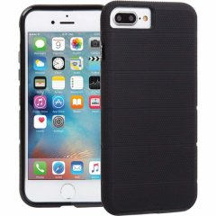 【iPhone8 Plus ケース 2層構造で保護】 iPhone8 Plus/7 Plus/6s Plus/6 Plus Hybrid Tough Mag Case Black / Black