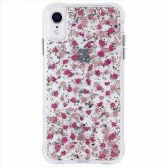 【ドライフラワーとシルバーフレークを封じ込めた可愛いケース】iPhoneXR Karat Petals-Ditsy Flowers Pink