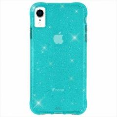【クリスタルのきらめきが美しい】iPhoneXR Sheer Crystal-Teal