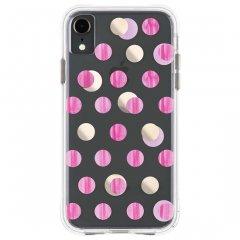 【メタリックドットが印象的なケース】iPhoneXR Wallpapers-Pink Dot