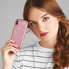 【クリスタルのきらめきが美しい】iPhoneXS Max Sheer Crystal-Blush