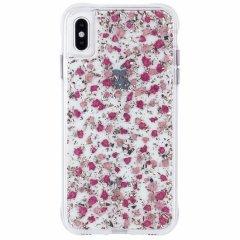 【ドライフラワーとシルバーフレークを封じ込めた可愛いケース】iPhoneXS Max Karat Petals-Ditsy Flowers Pink