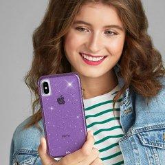 【クリスタルのきらめきが美しい】iPhoneXS Max Sheer Crystal-Purple