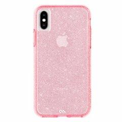 【可愛いきらめきが印象的!】iPhoneXS/X Sheer Crystal - Blush