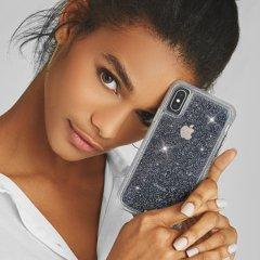 【クリスタルのきらめきが美しい】iPhoneXS/X Sheer Crystal-Clear