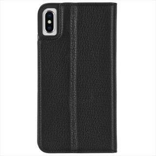 【カードや紙幣が収納できる手帳型ケース】iPhoneXS/X Wallet Folio-Black
