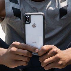 【シンプルデザインながら耐衝撃性抜群!】iPhoneXS/X Protection Clear/Black