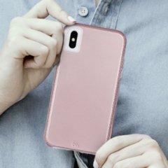 【シンプルな二重構造ケース】iPhone XS/X  Tough Grip - Metallic Blush