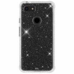【クリスタルのきらめきが美しい】Google Pixel3 Sheer Crystal-Clear