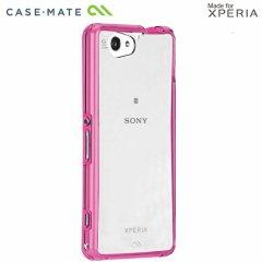 【衝撃に強いケース】 Sony Xperia A2 SO-04F / J1 Compact / Z1 f SO-02F Hybrid Tough Naked Case Clear/Pink