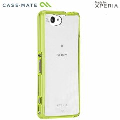 【衝撃に強いケース】 Sony Xperia A2 SO-04F/J1 Compact/Z1f SO-02F Hybrid Tough Naked Case Clear/Lime