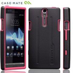 【シンプルでタフなケース】Case-Mate docomo Xperia NX SO-02D Hybrid Tough Case Black/Pink