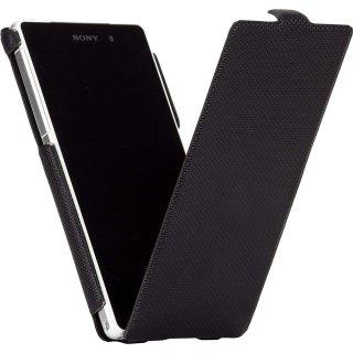 【縦開き型スリムケース】 Sony Xperia Z2 docomo SO-03F Slim Flip Case Black