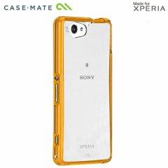 【衝撃に強いケース】 Xperia A2 SO-04F/J1 Compact/Z1 f SO-02F Hybrid Tough Naked Case Clear/Orange