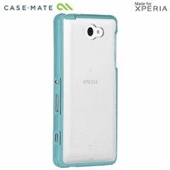 【衝撃に強いケース】 Sony Xperia ZL2 au SOL25 Hybrid Tough Naked Case Clear/Turquoise