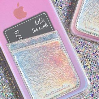 【ID ポケット 虹色柄 カードホルダー機能搭載のステッカーポケット】 ID Pockets Iridescent ID ポケット イリデセント