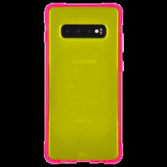 【大胆なネオンカラーがインパクト大!】 Galaxy S10 Tough Clear - Neon Green/Neon Pink