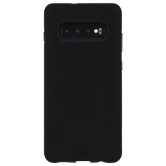 Galaxy S10+ ハード スマホ ケース カバーTough Grip [ワイヤレス充電対応ケース 耐衝撃 頑丈 握りやすいグッドデザイン]  Black