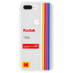 【Case-Mate×Kodak コラボ】  iPhone 8Plus Kodak Striped Kodachrome Super 8