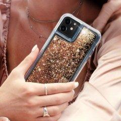 【ラメが滝のように流れるおしゃれなケース】iPhone 11 / 11 Pro / 11 Pro Max Case Waterfall Gold