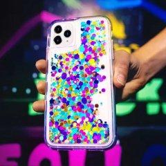 【ラメが滝のように流れるおしゃれなケース】iPhone 11 / 11 Pro / 11 Pro Max Case Waterfall Confetti