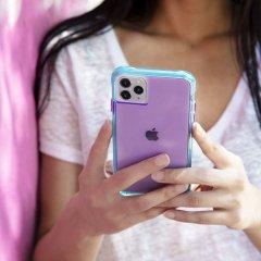 【ワールドワイドで大人気のネオンカラー】 iPhone 11 / 11 Pro / 11 Pro Max Case Tough NEON - Purple/Turquoise