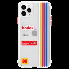 【Case-Mate×Kodak コラボ】 iPhone 11 / 11 Pro / 11 Pro Max Case Kodak - Striped Kodachrome Super 8