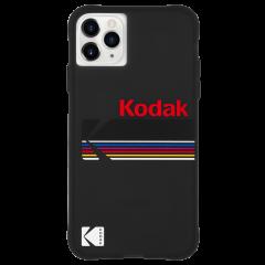 【Case-Mate×Kodak コラボ】 iPhone 11 / 11 Pro / 11 Pro Max Case Kodak - Matte Black + Shiny Black Logo