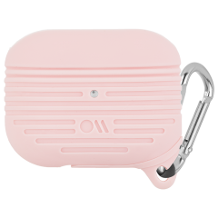 【AirPods Pro ケース・ワイヤレス充電OK・耐水】 AirPods Pro Tough Case Blush w/Silver Carabiner Clip