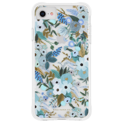 【RIFLE PAPERとのコラボ】iPhone SE(第2世代/2020年発売) / 8 / 7 / 6s / 6 Case RIFLE PAPER - Garden Party - Blue