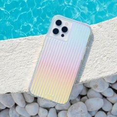 【虹色に輝くデザインケース+抗菌仕様】iPhone 12 Pro Max Tough Groove Iridescent w/ Micropel